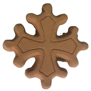 Croix occitane diamètre 14.5 avec boules terre granuleuse