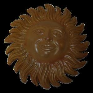 Soleil émaillé teinte naturelle diamètre 23 cm