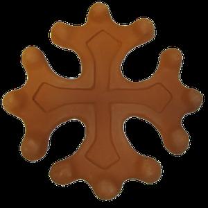 Croix occitane semi évidée diamètre 23 terre fine