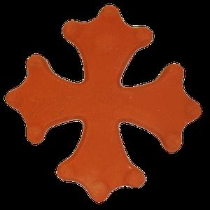Croix occitane pleine diamètre 33