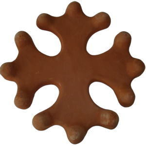 Croix occitane pleine diamètre 23 terre fine