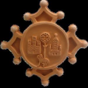 Croix occitane avec armoiries de TOULOUSE diamètre 48