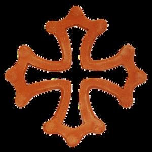 Croix occitane évidée diamètre 33