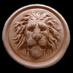 Tête de lion rosace diamètre 27 cm