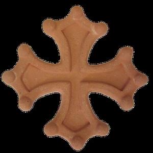 Croix occitane semi évidée diamètre 33