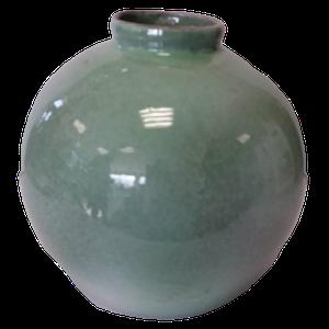 Vase boule grand modèle vert goutte d'eau Hauteur 23 cm
