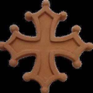 Croix occitane semi évidée diamètre 48