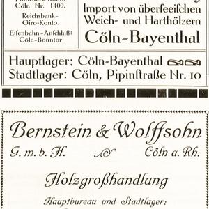 B. Boissserée und Bernstein & Wolffsohn Holgroßhandlung