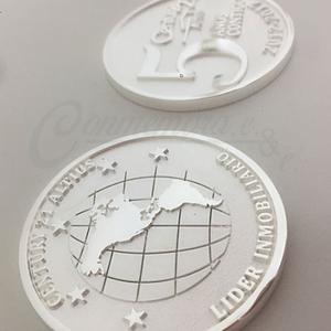 Moneda en Plata .925 ley, 55mm