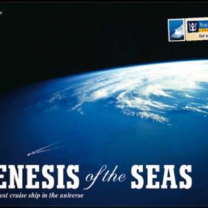 "Plakat ""Größtes Kreuzfahrtschiff der Welt"". Kunde: Royal Caribbean International"