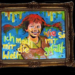 Urban Art, Pippi Langstrumpf Gemälde