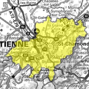 DAB+ multiplex Saint-Étienne local, canal 8A
