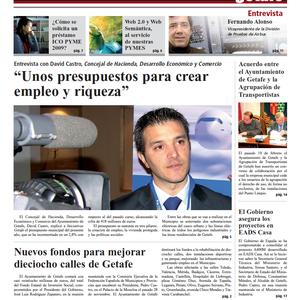 Periódico Iniciativas Getafe del Ayuntamiento de Getafe y su empresa de desarrollo GISA