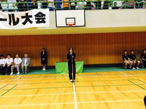 伊藤選手 チームを代表して挨拶