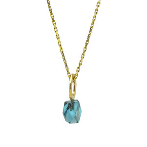 London Blue Topaz, 585 Gelbgold