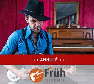 FRÜHROCKEN! avec Manu Lanvin & the Devil Blues le 22 mars à 11h30 au Jünglingshaus Eupen