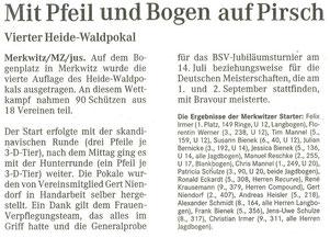 Artikel - 4.Heide-Waldpokal 2007 - BSV Merkwitz