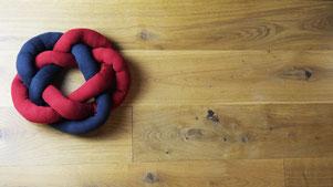 Knoten-Kissen Anleitung omniview Blog DIY
