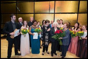 Die Finalisten des 9. Internationalen Hilde Zadek Gesangswettbewerbes 2015 (Foto: Fayer)