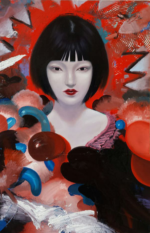 Shizuku / 50 x 35 cm / oil on wood