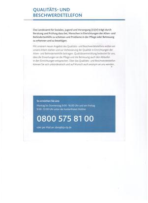 Qualität, Beschwerdetelefon, Gemeinde, Bruschied
