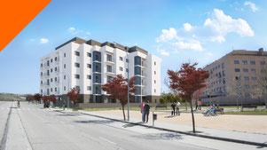 Promoción inmobiliaria 3D. Renders para Terrazas del Olivar, en Guadalajara