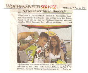 Wochenspiegel 07.08.2013