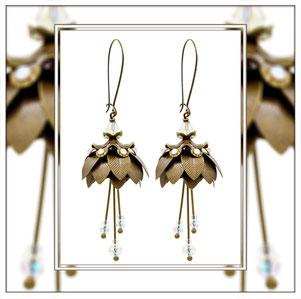 Magnolia ° The Marvelous Flower ° Leuchtende Blumen Ohrringe Elfgard®