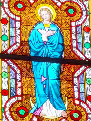 Glasfenster Maria Immaculata, Biburg