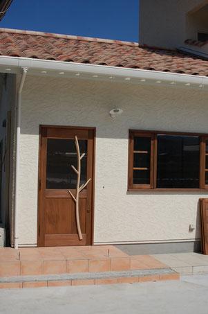 店舗 木製 玄関ドア パン屋