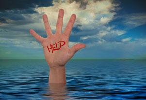 Krise, Begleitung, helfen, absaufen, untergehen, Angst, Not, Einsamkeit, Verlust und Trauma