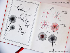 Doodles. Doodler, Doodling, tutorial, anleitung, Sketchbook, Sketchnotes, visual vocabulary, visuelles wörterbuch, scribble, Sketch, Inspiration, Idea, Ideen, How to draw, step by step, schritt für schritt, malen, kids, kinder, zeichnen, dandelion, blume