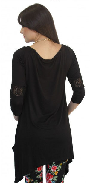 long sleeve maternity top black