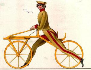 Zeichnung der Original Laufmaschine in Bewegung