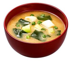 Sopa miso vegetariano