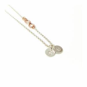 Initialen Infinity 925 Silberkette Unendlich Namenskette mit Buchstaben