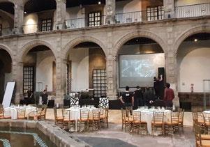 Finalizando montaje de dj para boda Ex Convento de San Hipolito México d.f.