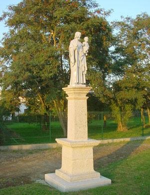 Photo de la statue après sa mise en place    (cliquer dessus pour l'agrandir)