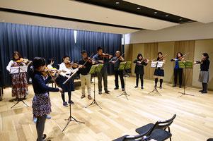 ヴァイオリン合奏練習風景
