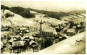 Luthern Dorf, Ansichtskarte Sicht Heubergstrasse, Poststempel Hofstatt 16.1.1935  (LD 13)