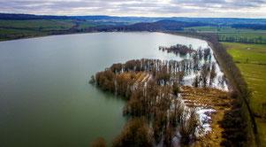 Février 2018, le lac est totalement remplie.