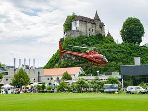 Helikopterflug Zentralschweiz, HB-ZPF, AS 350 B2 Ecureuil, Rundflugtag BUGA 2018 Burgdorf, Helikopterrundflug