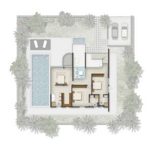 PLANS ETAGE Villas OLYMPUS