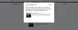 Twitter du Prix Charles Ritz