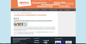 Site Internet Protourisme Corrèze