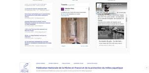 Site Internet Fédération Nationale pour la Pêche en France