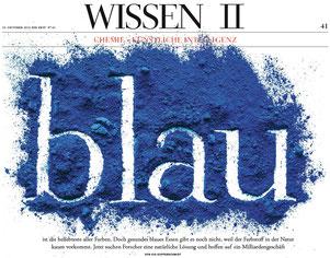 """Kai Kupferschmidt: """"blau"""", Die Zeit, 10.10.2019 (Ausschnitt)"""