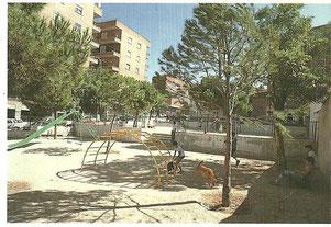Parque en la Avenida de Portugal 1983. Cortesía de Alberto García