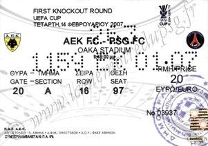 2007-02-14  AEK Athenes-PSG (16ème finale aller C3)
