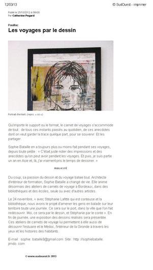 Exposition à la bibliothèque de Pauillac - octobre 2012